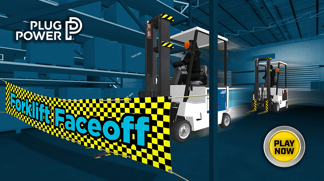 """The Forklift Faceoff"" Interactive Competition - PlugPower"